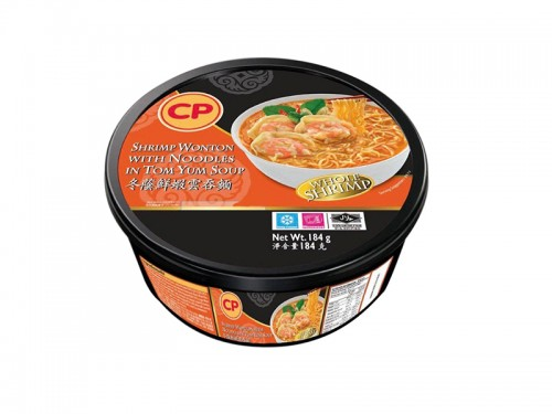 CP Shrimp Wonton with Noodles in Tom Yum Soup 184g BOWL (new)