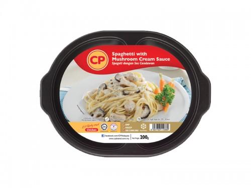 CP Spaghetti with Mushroom Cream Sauce